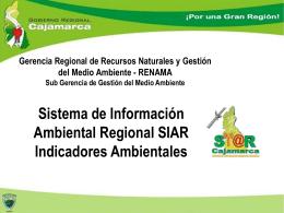 Alcances del Sistema de Información Ambiental Regional y su