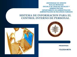 sistema de informacion para el control interno de