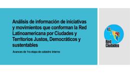 Análisis de información de iniciativas y movimientos que conforman