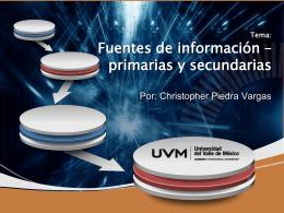 Tema: Fuentes de información * primarias y