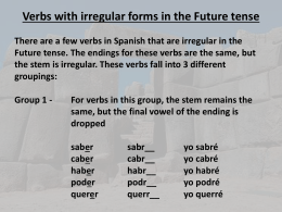Irregular verbs in the Future tense