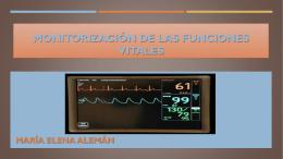 monitorización de las funciones vitales