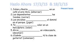 Hazlo Ahora/Vamos 14/1/15