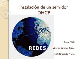 Instlaicion de un servidor DHCP