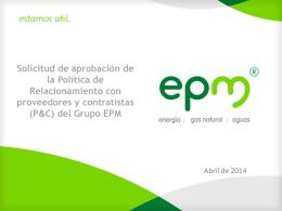 del Grupo EPM
