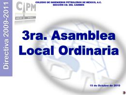 Presentacion-3a-ALO-2010 - Colegio de Ingenieros Petroleros