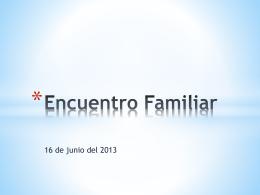 Encuentro Familiar