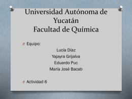 act 6 - Universidad Autónoma de Yucatán