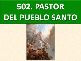 502. pastor del pueblo santo (chile)
