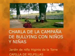 Charla de campaña de bullyin