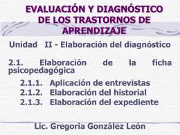Unidad II - Elaboración del diagnóstico