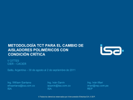 metodología tct para el cambio de aisladores poliméricos