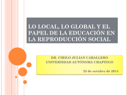 lo local, lo global y el papel. dr. cirilo37