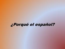 Porqué el español (1353987)