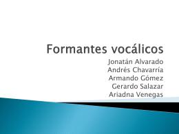 Formantes vocálicos