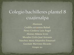 Colegio bachilleres plantel 8 cuajimalpa - wiki-wiki-del-rap
