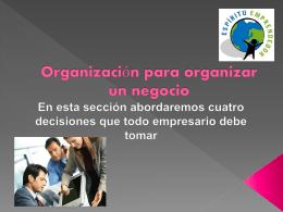 Organización para iniciar un negocio - I-love