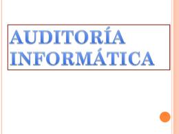 auditoría informática - PAUDITORIA