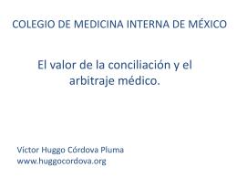 Celebración CONAMED - Dr. Víctor Huggo Córdova Pluma