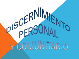 Discernimiento personal y comunitario 2