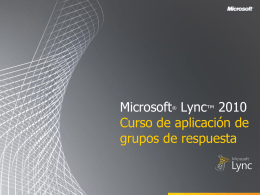 Microsoft Lync 2010 RGS Training