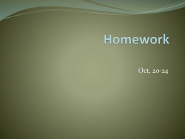 Homework - Colegio Zazu