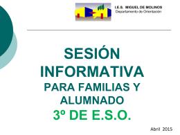 Orientación 4º ESO - IES Miguel de Molinos