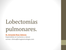 Lobectomias pulmonares