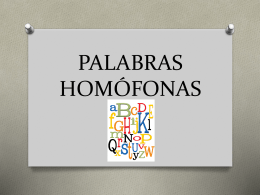 PALABRAS HOMÓFONAS - Deyanira Velázquez Alvarado