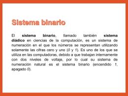 Sistema Binario - Ing. Oscar Portobanco