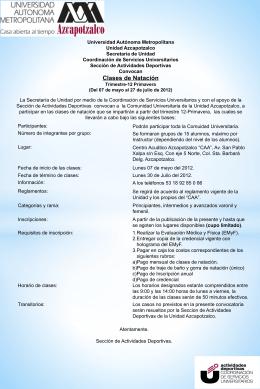 Clases de Natación - UAM Azcapotzalco