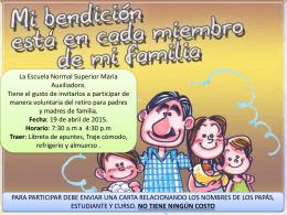 retiros padres de filia - Escuela Normal Superior María Auxiliadora