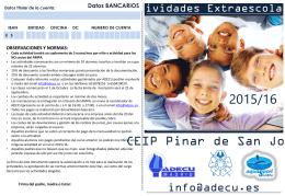 observaciones y normas - AMPA Pinar de San José