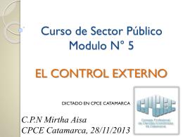 Curso de Sector Público N° 5