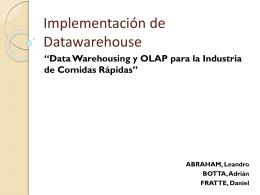 Implementación de Datawarehouse - hydro2011