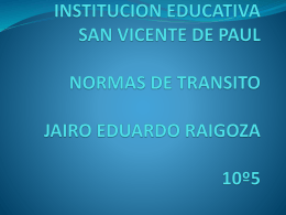 INSTITUCION EDUCATIVA SAN VICENTE DE PAUL NORMAS DE