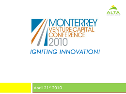 The Kickstart Fund - Monterrey Venture Capital Conference 2010