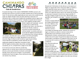Trail Initiative of Chiapas - Comité de Cuenca del Valle de Jovel