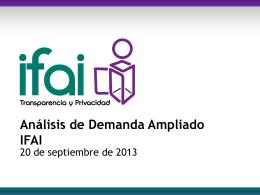 Análisis de demanda IFAI