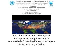 Objetivos del Plan de Acción Regional