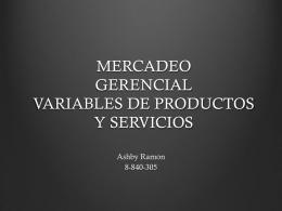 mercadeo gerencial variables de productos y servicios