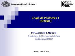 B1:Alejandro Müller- Polímeros