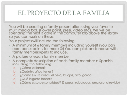 El proyecto de la familia