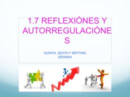 Reflexiones y Autorregulaciones