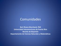 Comunidades - Universidad Interamericana de Puerto Rico