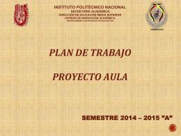 Presentación Plan de trabajo F00