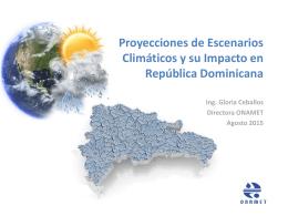 Gloria Ceballos - Proyecciones de Escenarios Climáticos.