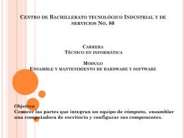Centro de Bachillerato tecnológico Industrial y de servicios No. 80