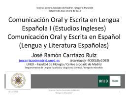 Comunicación Oral y Escrita en Español