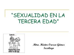 Sexualidad en la tercera edad